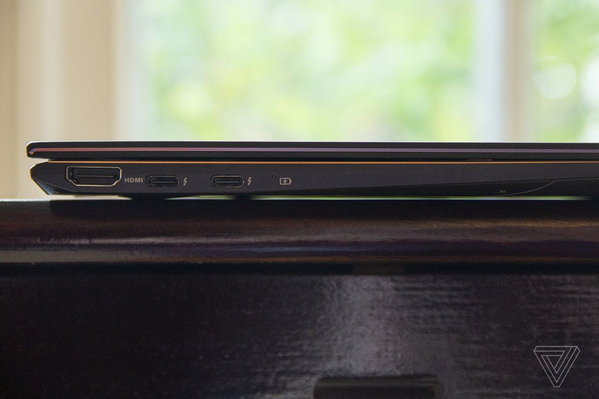 The Asus Zenbook Flip S closed from the right side.