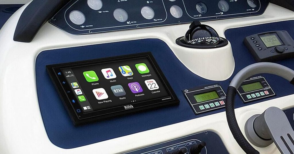 Avast! Boss Audio's new weatherproof touchscreen brings CarPlay and Android Auto to boats