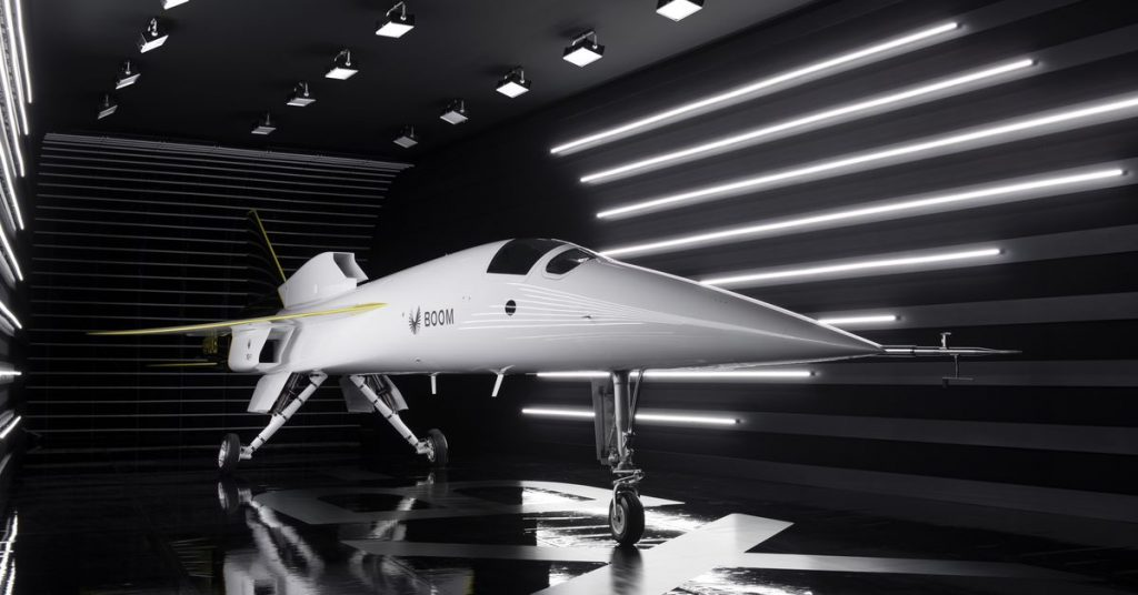 Boom Supersonic unveils its prototype for a commercial supersonic jet