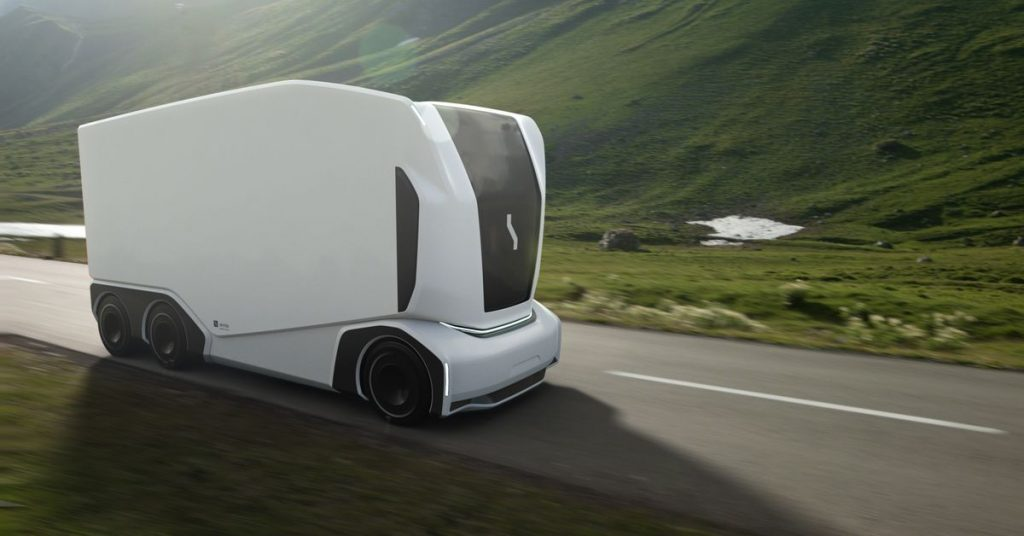 Drone truck startup Einride unveils new driverless vehicles for autonomous freight hauling