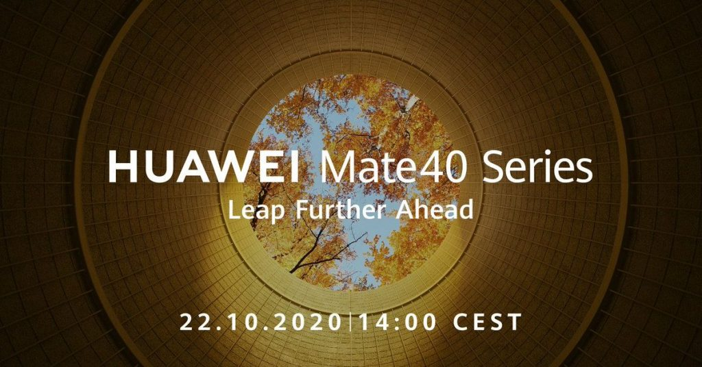 Huawei tweets it will debut its Mate 40 devices on October 22nd