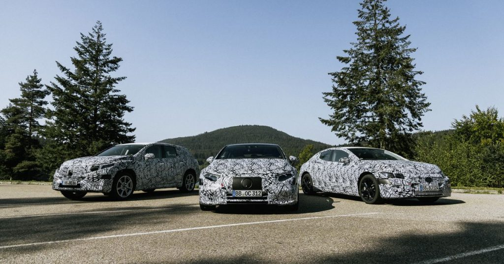 Mercedes-Benz teases new EQS and EQE luxury electric vehicles