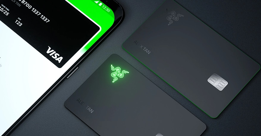 Of course Razer made a light-up prepaid credit card