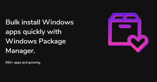 Winstall lets you bulk install Windows apps with Microsoft's package manager