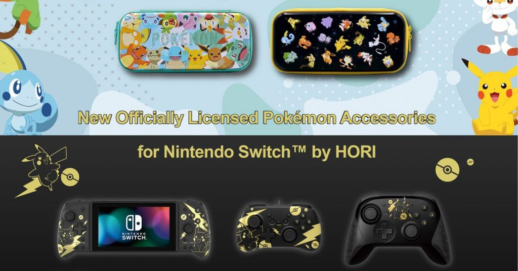 You can deck out your Switch Pokemon-style with these Hori accessories