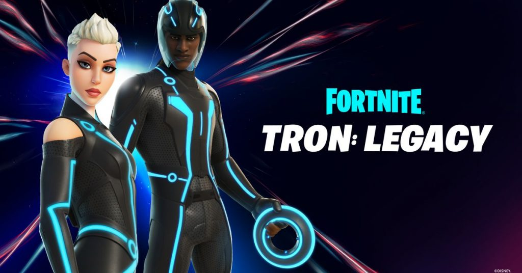 Tron invades Fortnite with Light Cycles and new skins